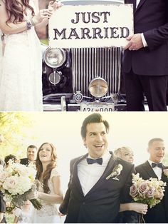 i like the concept of the bottom picture. but a little different- the groomsmen pulling the groom back, and the bride waving while the bridesmaids trying to hide her