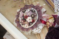 Brooch/ shabby/ shabby brooch/ spring bouquet/ by KSMasterica