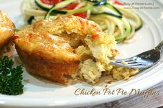 Chicken Pot Pie Muffins from Busy-at-Home