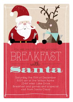 Great party idea for kids: Breakfast with Santa!