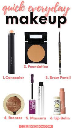 Need inspo for a quick and easy everyday makeup look? Here are tips for a hassle free natural makeup look you can sport with confidence on the daily. #easy #everyday #makeup #look Beauty Hacks Skincare, Beauty Makeup Tips, Diy Makeup, Drugstore Skincare, Makeup Tips For Dry Skin, Natural Makeup Tips, How To Apply Makeup, Simple Everyday Makeup, Casual Makeup