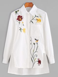 2019 clothing clothing labels clothing patches clothing wholesale flower clothing fly shirts shirts for ladies shirts sunshine coast style clothing tee shirts clothing Sommer Garten Hochzeits Kleider Flower Embroidery Designs, Embroidery Patterns, Machine Embroidery, Embroidery Fashion, Embroidery Dress, Bordado Floral, Cloth Flowers, Embroidered Clothes, Embroidered Blouse
