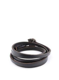 Lucleon  - Černý kožený náramek Lucca - 1