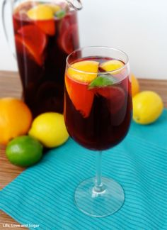 The longer sangria sits before drinking, the more smooth and mellow it will taste. A full day is best, but if thats impossible, give it an absolute minimum of two hours to sit. Use large, heavy, juicy oranges and lemons for the best flavor. Doubling or tripling the recipe is fine, but youll have to switch to a large punch bowl in place of the pitcher. From Americas Test Kitchen