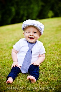 Toddler Boy's Necktie Chambray18 months 4T by ONElittleBELT pictures by Betsey Darley Photography