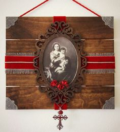 St. Francis rustic wall art features antique holy card and vintage medal and the prayer of St. Francis | Rustic wall hangings | Pinterest | Rustic wall art ...  sc 1 st  Pinterest & St. Francis rustic wall art features antique holy card and vintage ...