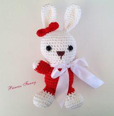 Bunny stuffed animal,crochet bunny,handmade toys,crochet amigurumi animal,boys,girls,shower gift,birthday gift by PrincessFunnyShop on Etsy