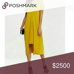COMING SOON!! Mustard Yellow Dress Cute peekaboo dress in a pretty mustard. Tres chic! NOTE: Tag displays a size larger than the actual fit. Please see measurements below for most accurate fit. Add to bundle to save!   XSmall - Bust: 31.50, Waist: 29.92, Length: 40.94 inches   Small - Bust: 33.07, Waist: 31.50, Length: 41.34 inches Dresses