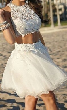 White Homecoming Dresses,Tulle Homecoming Dress