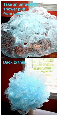 How to rescue an unravelled shower puff.  I think this is brilliant and does involve the use of a needle so that is why I put it in sewing tutorials.