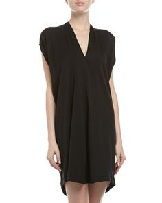 Double-V Silk Shift Dress, Black by Vince at Neiman Marcus Last Call. $149.00