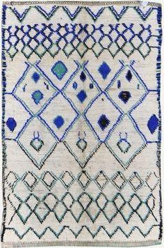 vintage Moroccan rug Azilal tribe