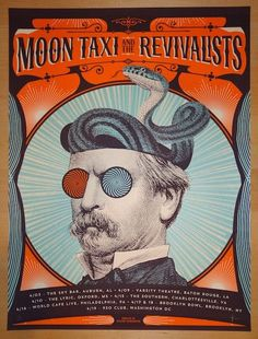 2014 Moon Taxi and the Revivalists - April Tour Poster by Status