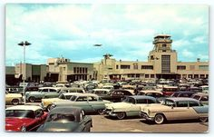 Vintage postcard of the Lockheed Air Terminal Airport in Burbank, California. California History, Southern California, Burbank California, Toluca Lake, San Fernando Valley, Valley Girls, Los Angeles Area, Historical Pictures, Vintage Postcards