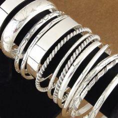 Sterling Silver Bangle Bracelet - Alltribes.com