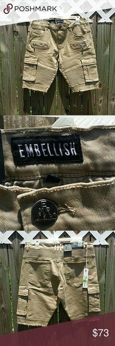 MEN'S SHORTS MEN'S SHORTS Length approximately 22 inches EMBELLISH  Shorts