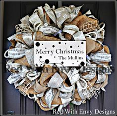 Country Chic Christmas Wreath Christmas by RedWithEnvyDesigns, $135.00