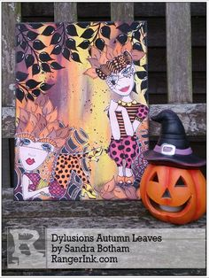 Dylusions Autumn Leaves by Sandra Bothamn | www.rangerink.com