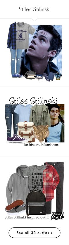 """""""Stiles Stilinski"""" by ridiculousness444 ❤ liked on Polyvore featuring Topshop, Converse, hogwarts, TeenWolf, StilesStilinski, beaconhills, stilinski, Paige Denim, Mads Nørgaard and LA: Hearts"""