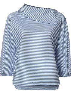 TIBI sculpted sleeve striped blouse.  tibi  cloth  블라우스 0d27745a2eb9