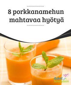8 porkkanamehun mahtavaa hyötyä   Tiesitkö, että #porkkanat ovat #ihanteellista ruokaa muun muassa suun terveyden #ylläpitämiseksi?  #Terveellisetelämäntavat