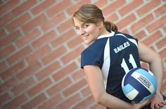 Volleyball player senior portrait. This idea can be done with every sport.