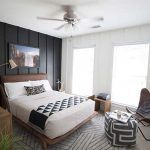 Super easy and inexpensive DIY Board and Batten wall treatment that will give you this classic look without costing a small fortune. Cast Iron Bed Frame, Cast Iron Beds, Kids Bedroom Boys, Kid Bedrooms, Modern Bedroom, Master Bedroom, Diy Platform Bed, Leather Headboard, Metal Beds