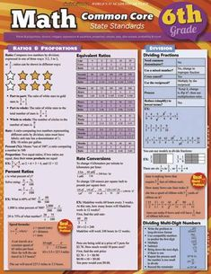 Common core 6th grade math review/quick study