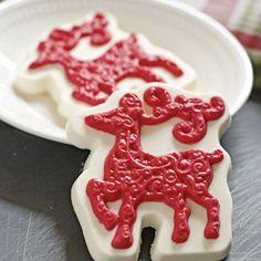 Reindeer Chocolate Bar  Christmas Candy by NicolesTreats on Etsy