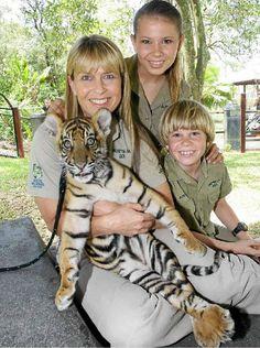 Irwin Family together at Australia Zoo in Queensland, Australia.  v@e.