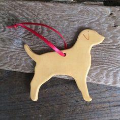 Yellow lab Ornament Yellow dog Ornament by BeachwoodStreet on Etsy