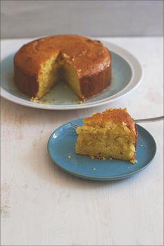 Rezept für Semolina-Joghurt-Kuchen mit Zitronensirup