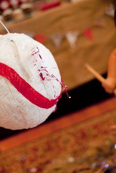 Baseball piñatas. Plus other baseball party ideas