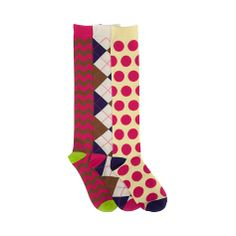 Shop for Womens Knee High 3 Pack in Multi at Journeys Shoes. Shop today for the hottest brands in mens shoes and womens shoes at Journeys.com.Knee high crew socks rockin dots, argyle, chevs. 3 pack pattern assortment. Available for shipment in August; pre-order yours today! $15
