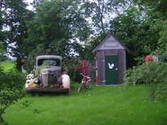 An Old Truck that I turned into a Living Planter.  This became a Landmark for my farm.
