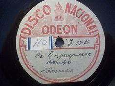 2nd Raritys Auction 2016 !! ‪#‎78rpm‬ ‪#‎shellacrecords‬ FRANCISCO LOMUTO Odeon Sample Record 78rpm - Buenos Aires 1927 78rpm very rare!