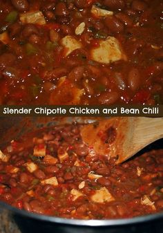 Slender Smoky Chipotle Chicken and Bean Chili
