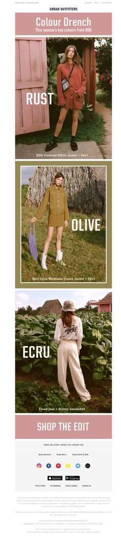 Go Colour Drenched for Urban Outfitters, Khaki Pants, Photoshop, Colour, Marketing, Shopping, Fashion, Color, Moda