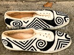 Tribal Graphic Sneakers by flyjunkieshop on Etsy, $75.00