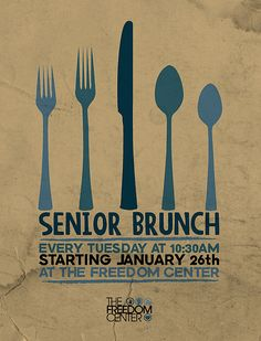 Senior Brunch Flyer by Travis Cooper, via Flickr