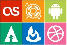 Simple Icons - Artwork by Dan Leech Social Network Icons, Social Icons, Simple Icon, Icon Set, Dan, Web Design, Minimalist, Google, Artwork
