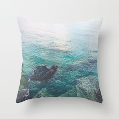 Freshwater Throw Pillow by untitledgallery Down Pillows, Throw Pillows, Poplin Fabric, Pillow Inserts, Fresh Water, Hand Sewing, Zipper, Stylish, Room