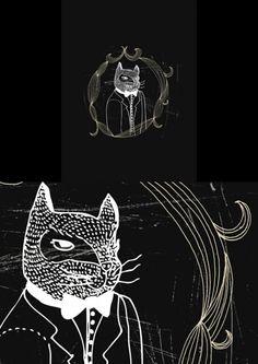 Dapper cat art print by Lauren Fowler. Cat Art Print, South African Artists, Dapper, Printmaking, Graphic Design, Art Prints, Cool Stuff, Cats, Creative