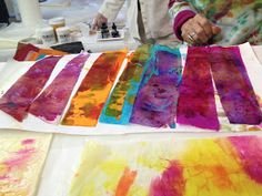 C. Dianne Zweig - Kitsch 'n Stuff: Wetting Colored Tissue Papers In Mixed Media Art