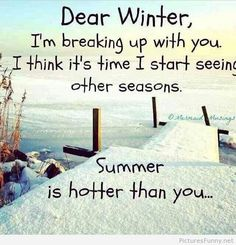 Dear winter poem saying