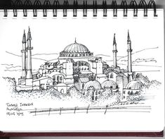 Hagia Sophia, Istanbul, Turkey / sketch by Joungyeon, Bahk (Grid-A architecture) http://grid-a.net