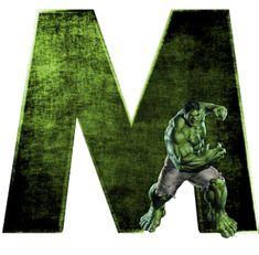 Alphabets by Mônica Michielin Avengers Room, Hulk Avengers, Hulk Marvel, Marvel Art, Spiderman, Ms Marvel, Captain Marvel, Marvel Comics, Alphabet Letters Design
