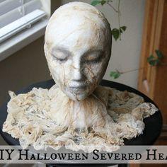 DIY Halloween Severed Head
