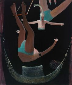 Kyle Staver, Trapeze, 2012, oil on canvas, 68 x 58 inches.