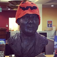 #FrBart is ready for Halloween #StonehillLibrary #Stonehill #Halloween 2015